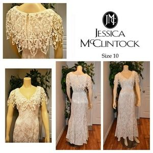 JESSICA McCLINTOCK WEDDING FORMAL DRESS SIZE 10